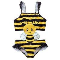 أطفال أطفال لطيف قطعة واحدة المايوه monokini الكرتون المطبوعة ملابس الأطفال أزياء أطفال عارضة بحر الاستحمام دعوى للفتيات G63KORA