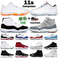 11 11s zapatos de baloncesto hombres mujeres Bred Concord 45 serpiente rosa Gamma azul Space Jam diseñador para hombre entrenadores zapatillas deportivas