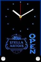 Wall Clocks Tnc0015 Stella Artois Beer OPEN Bar Table Desk 3D LED Clock