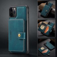 Suitable for Iphone 12 12pro 12promax 11pro x xs xr magnetic split mobile phone protective shell wallet A72 business card holder