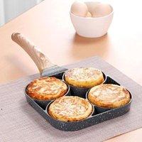 البيض المقلي عموم غير عصا أربعة حفرة عجة فطيرة وعاء الطبخ أداة طباخ المقالي الوجه البيض العفن المطبخ الخبز اكسسوارات HHA5176