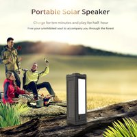 Outdoor Solar Bluetooth Speaker IPX7 Waterproof Wireless Stereo loudspeaker 5000mAh Power bnank with Three LED modes Camping light for Travel Party Beach Shower