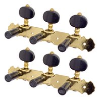 1 Pair (Left + Right) 1:18 Acoustic Classical Guitar Machine Heads Tuning Key Pegs String Tuners