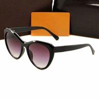 النظارات الشمسية المستقطبة المرأة القط نظارات الشمس مصمم البيضاوي مكبرة لامرأة uv حماية مقصات الراتنج الزجاج 5 ألوان مع مربع حالة
