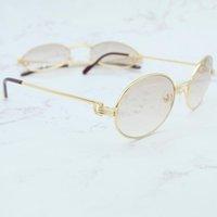 Retro Sunglasses Driving Men Metal Oval Brand Classic Sunglass Sun Glasses Shade Eyewear Carter Designer Mens Stylish Jjphx