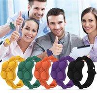 Tryck bubbla fidget armband leksaker pussel dekompression finger musik silikon armband leksak sensory ring pressing boll armbandsur