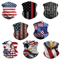 US Flag Scarf 3D Masks Party Decoration Men Women Scarfs Headband Sports Head Scarves Washable Protective Outdoor Sport Face Mask LD61110