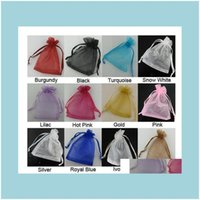 Pouches, Packaging & Display Jewelryluxury Sheer Candy Wedding Favor Organza Pouch Jewelry Party Xmas Gift Bags 5X7Cm,7X9Cm,9X12Cm,10X15Cm,1