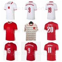 2020-2021 EUROPA CUP Equipo nacional de fútbol 10 Krychowiak Jersey 20 Zielinski 13 Rybus 18 Bereszynski 21 Jozwiak 23 Piatek 16 Moder Football Shirt Kits 2022 Euro Patch B-L