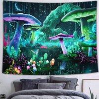 태피스트리 동화 판타지 숲 태피 스 트리 트리 다채로운 버섯 자연 식물 트리피스 기숙사