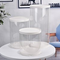 Biscuit Storage Macarons Box Gift Pvc Clear Round Chocolate Holder Containers Party Wedding DIY Cake Cookies Packaging Boxes Dec7OCF M644