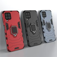 Car Holder Magnet Suction Hybrid Cases For Samsung Galaxy A82 A22 S21 FE Ultra Plus A32 5G A01 A20S Hard PC+TPU+Finger Ring Mobile Phone Back Cover iphone 13 pro max