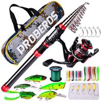 High Quality Telescopic Fishing Rod Reels Sea Set Package Long-range Cast Reel With Bag H1014