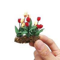 Mini Giardino Scultura Miniatura Fiamma Fiore Fiore in Pot Fiori Fiori Fiori Decorazioni per la decorazione della decorazione della casa Statua all'aperto Decorazioni Jardin