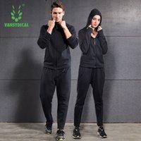 VaSyDical Kış Koşu Seti Erkekler Katı Fermuar Kapüşonlu Spor Erkekler Için Spor Giyim Giyim Koşu Fitness Eğitim Egzersiz Eşofman