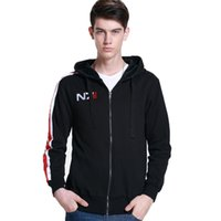 Mass Effect Hoodies Men Anime Zipper Sweatshirt Male Tracksuit Cardigan Jacket Casual Hooded Hoddies Fleece Jacket N7 Costume 210825