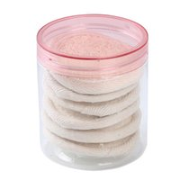 Éponges, applicateurs coton 4 / 6pcs tonnez loofah sponge lavage exfoliant maquillage maquillage baignoire baignoire frotter des tranches de douche de bœuf cylindrée gant nettoyer n
