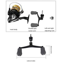 Baitcasting Reels Fishing Spinning Reel BR2500 BR3000 7.1:1 High Speed Single Double Grip Bait Casting For River Saltwater Outdoor