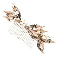 Hair Brushes Bride Wedding Pearls Comb Accessory Bridal Leaf Side Jewelry