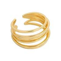Cercle mince minimaliste multicouche ouvert Anneaux irréguliers pour femmes hommes coréens or rond jardin géométrique bagues bijoux cadeaux