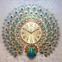 Heat! Chinese Creative Simple 3D Peacock Wall Clock Modern H...