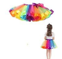 Coloré tutu jupe vêtements enfants tutu danse ust jupes de ballet jupes de ballet danse arc-en-ciel jupe jupe de danse pettiskirt