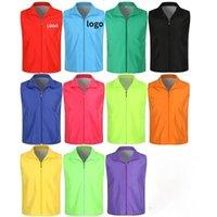 Men's Vests 1 Pcs Men High Visibility Safety Work Vest Wear Uniform Casual Waistcoat For Women Clothes Uniforms Outwear Tops