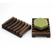 Doğal Ahşap Bambu Sabun Yemekleri Tepsi Tutucu Depolama Soaps Raf Plaka Kutusu Konteyner Banyo Duş Banyo için Deniz Lla647