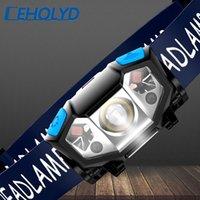 Scheinwerfer XP-G Q5 Eingebaute 18650 Batterie-LED-Scheinwerfer COB-Arbeitslicht wasserdichte Scheinwerferanzug für Fischereihochlampe Fackel