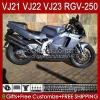 Cuerpo para Suzuki RGVT RGV 250CC 250 CC RGV250 SAPC VJ22 RVG250 VJ 22 20HC.100 Silvery Gray RGV-250 Panel 90 91 92 93 94 95 96 RGVT-250 1990 1991 1992 1993 1994 1995 1996 1994 1994 1996