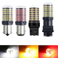 Car Turn Signal Light 3014 144smd CanBus S25 1156 BA15S P21W LED BAY15D BAU15S PY21W Lamp T20 LED 7440 W21W W21 5W Led Bulbs