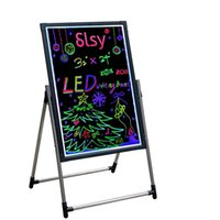 """LED Neon Sign Message Writing Board, 12""""X16"""" Erasable Neons Effect Menu Signs Board with Fluorescent Makers Remote Control,7Colors Flashing Modes Light"""