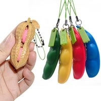 Дизайнер брелок Горох игрушка вечеринка HUBLED EDAMAME роскошный ключ цепь сжать декомпрессионные коричневые аксессуары арахисовые вентиляционные шариковые игрушки