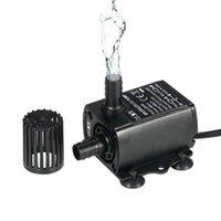 Bombas de aire Accesorios Ultra silencioso Sumergible Bomba de agua Filtro Filtro de peces Fuente de estanque Fuente de acuario USB Mini sin escobillas 400L / H Ascensor 4m