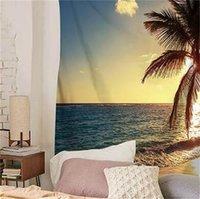 150 см * 130 см Летние приморские гобелены настенные настенные гобелен Главная декоративная гостиная настенные ковролинское полиэфирное пляжное полотенце 644 S2