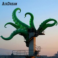 Green inflatable octopus legs balloon tentacles Arms for holiday party decoration