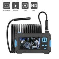 Caméras Industrial Endoscope 5.5mm / 8mm Borescope Borescope 6 LED 43Inch Caméra 1080P HD Inspection de voiture vidéo HD