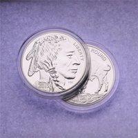 1oz 999 American American Silver Buffalo Rare Coin 2015 Placcatura in ottone Moneta d'argento