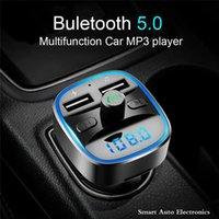 Bluetooth سيارة كيت مشغل mp3 يدوي الدعوة fm الارسال المغير 5.0 استقبال المزدوج usb الهاتف المحمول شاحن سريع يو القرص tf بطاقة الملحقات الداخلية