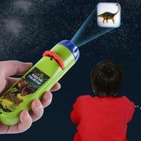 Взаимодействие родителя-ребенка головоломки раннее образование светящиеся игрушка животных динозавров ребенок слайд проектор лампа детей игрушки EWB9824