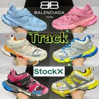 Balenciaga Fashion Track Triple S 3.0 Повседневная Обувь Ледяной Розовый Синий Белый Оранжевый Чернокожие Мужчины Женщины Кроссовки Тренер Лайм Металлический SIVLER TOOKE