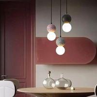 Подвесные светильники современный ресторан свет лампы личности творчество онлайн знаменитость прикроватательный макарун декоративные подвесные огни домашнего декора
