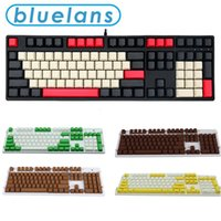 Keyboards 108Pcs Set PBT Color Matching Key Cap Keycaps For Cherry MX for Kailh for Gateron for PLU for Outemu Switch Mechanical Keyboard