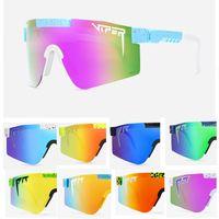 2021 Original Pit Viper Sport google TR90 Polarized Sunglasses for men women Outdoor windproof eyewear 100% UV Mirrored lens gift