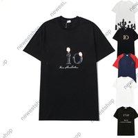 2021 Модный дизайнер Мужская футболка Летняя одежда Классическая Вышивка Письмо Цветок Печать Футболка Повседневная Хлопок Tee Top Женщины Футболка