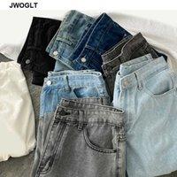 6 색 남성 정기적 인 청바지 남성 데님 바지 Streetwear 스타일 블루 블랙 데님 청바지 남성복 210528