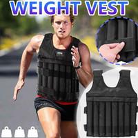 Erkekler Kadınlar Egzersiz Ayarlanabilir Ağırlık Yelek Ağırlıklı Eğitim Egzersiz Spor Boks Fitness Açık 110LB Yelekler Aksesuarları