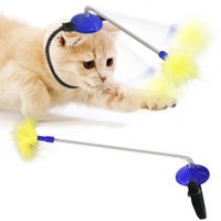 Head-Mounted Cat Toys Self Playing Interacting Pet Toy Spring and Feather Funny Stick for Indoor Cats