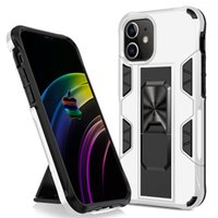 Shockproof Armor Hidden Bracket Phone Cases For iPhone 13 12 11 Pro XS MAX XR 8 7 6 Plus SE Magnetic Kickstand Bumper Cover