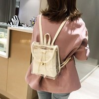 Backpack Women Transparent Clear Bag Satchel Fashion Strap Bags Ladies Messenger Casual Small Backpacks